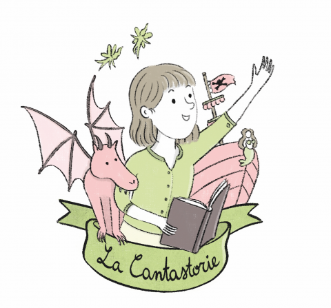 Illustrated logo – La Cantastorie